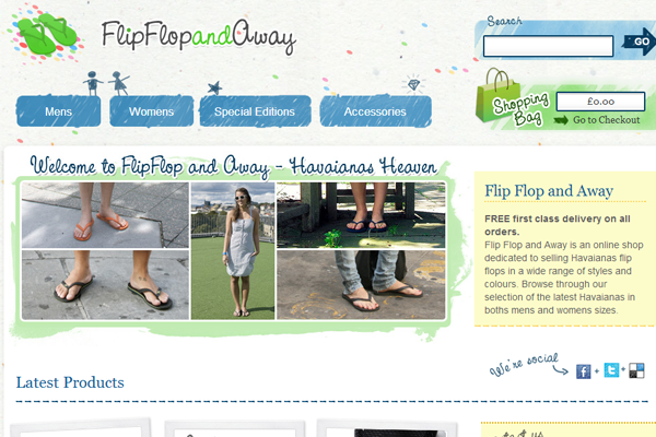 Flip Flop and Away webshop online ecommerce