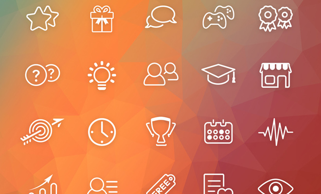 gamification gaming iconset vector freebie