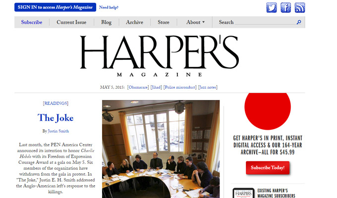 harpers magazine website
