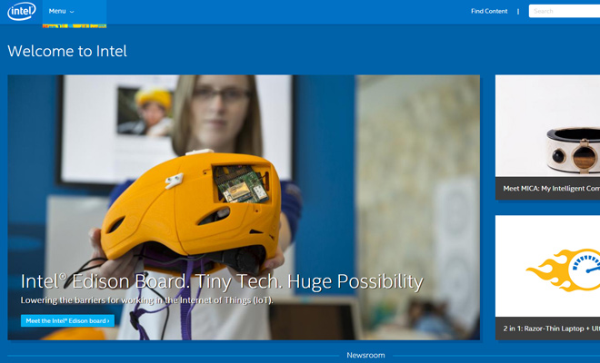 intel technology homepage website