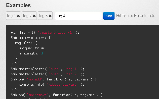 jquery master blaster plugin open source