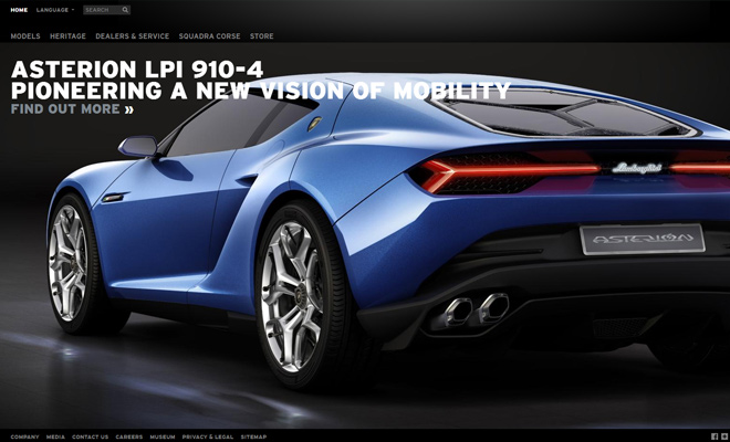 sports car lamborghini website