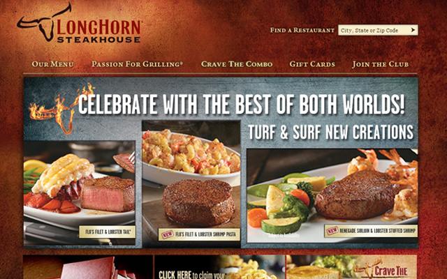 longhorn steakhouse website grill fire