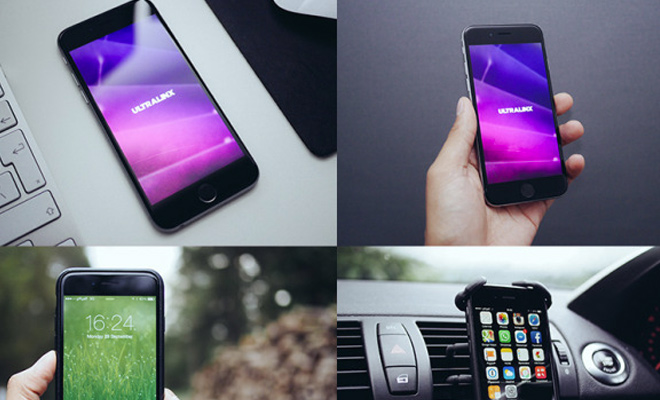 eight natural iphone mockups photos