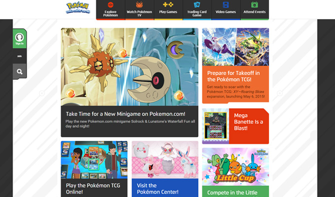 pokemon official website homepage