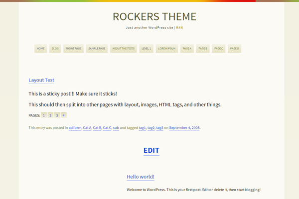 rockers free wordpress theme design download