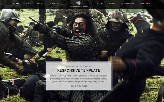 simple html5 template samurai photography