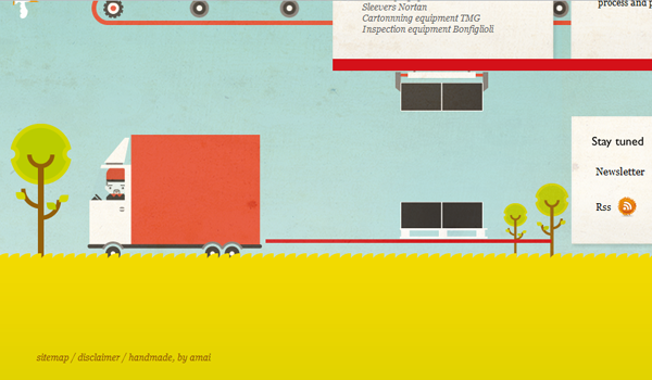 Seamco illustration for web design layout