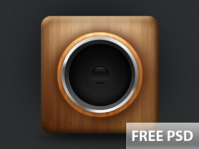 Freebie speaker design PSD download