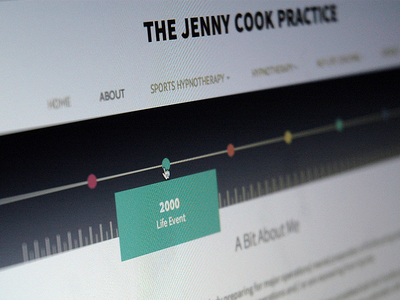 website design layout timeline interface