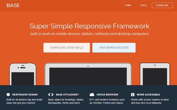 CSS framework for basic responsive website layouts