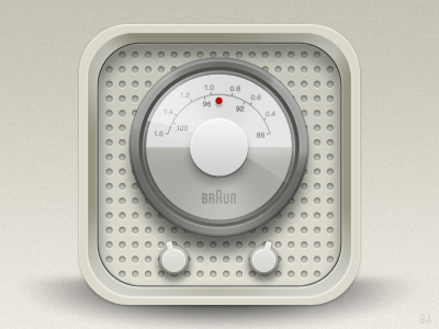 iOS Icon Braun Radio app