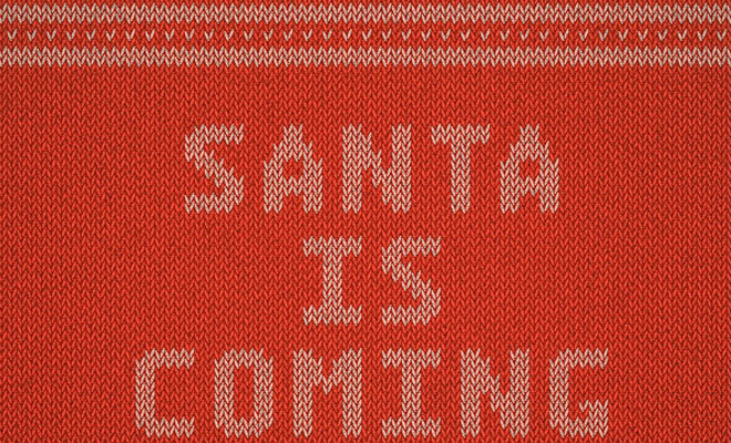 christmas knitted text effect tutorial