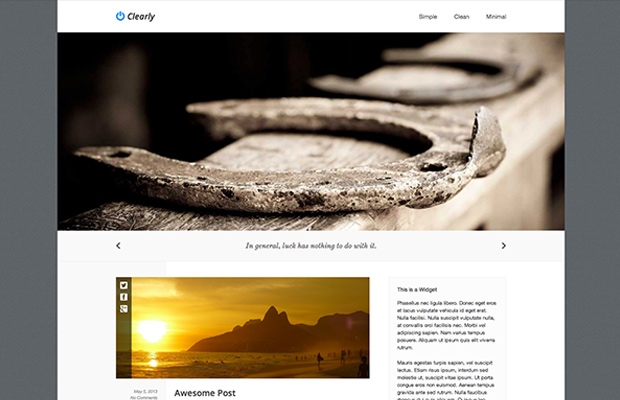 clearly wordpress theme flat free