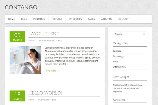 contango freebie ui wordpress download theme