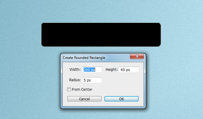 create new rounded rectangle ps
