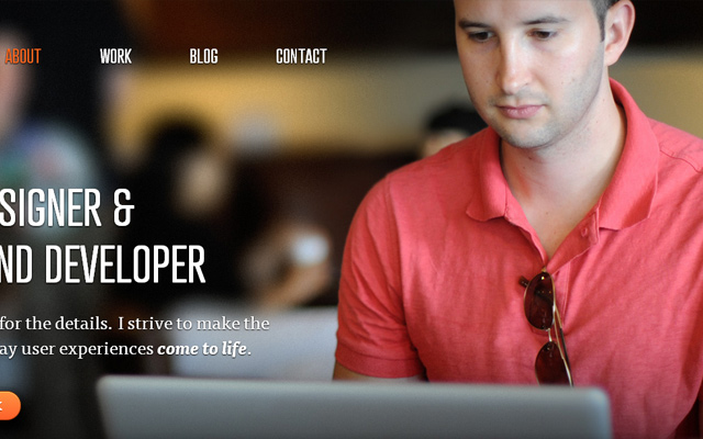 daniel filler designer website portfolio fullscreen background photo