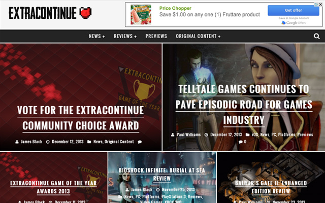 extra continue video game news magazine blog homepage