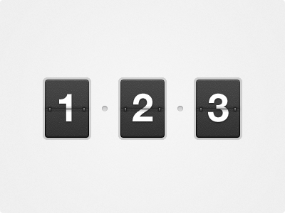 numbers flip counter freebie PSD