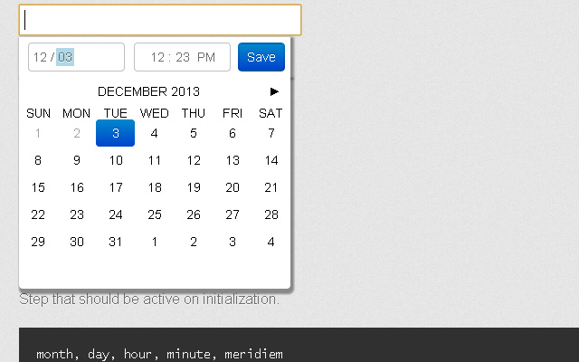 filthy pillow jquery plugin creative datetime calendar