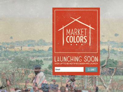 Market Color splash signup form webpage