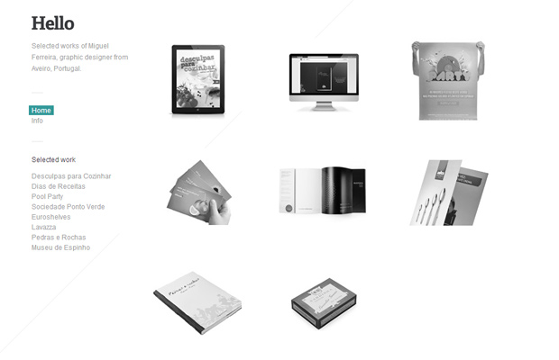 miguel ferreira website portfolio light website