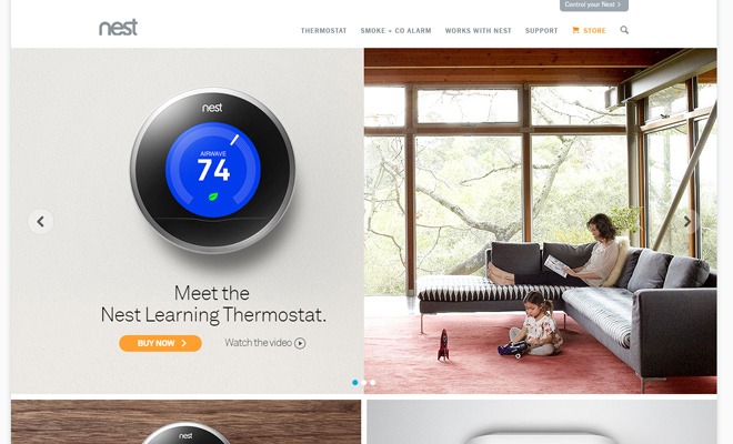 nest website design gadgets technology