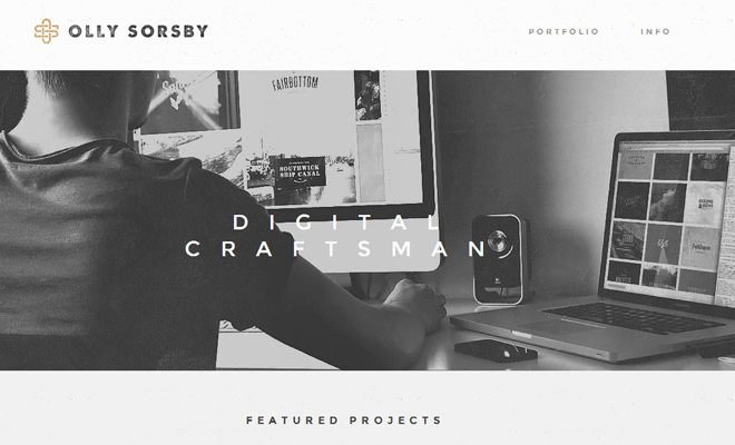 olly sorsby design portfolio website