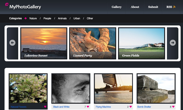 photo gallery website layout tutorial