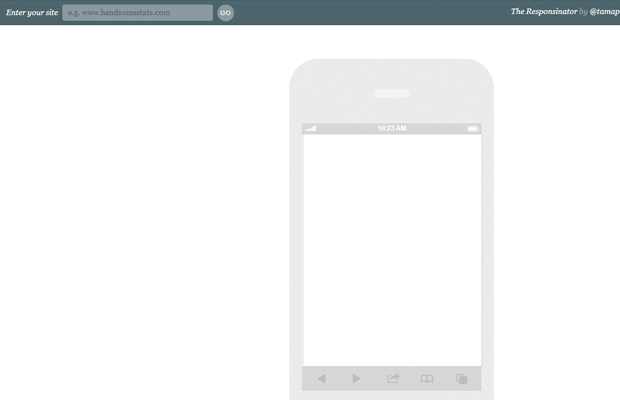 mobile iphone responsive layout design testing webapp