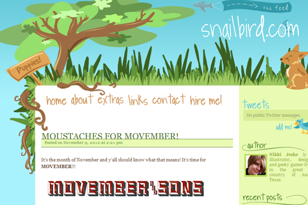 snailbird blog layout illustration header forest