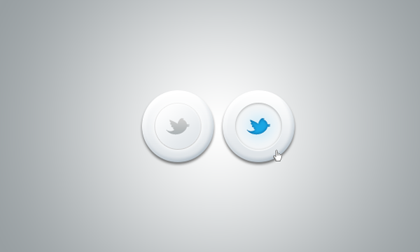 Freebie Twitter buttons badges PSD icons