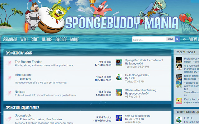 spongebob spongebuddy mania forums design