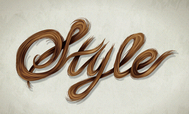 vector hair typography design tutorial