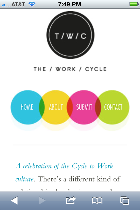 The Work Cycle web design