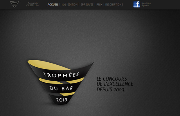 trophees du bar website parallax layout