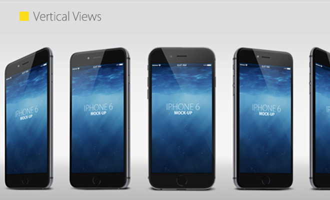 vertical iphone 6 mockup design