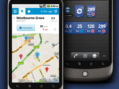 blue user interface mobile app android design