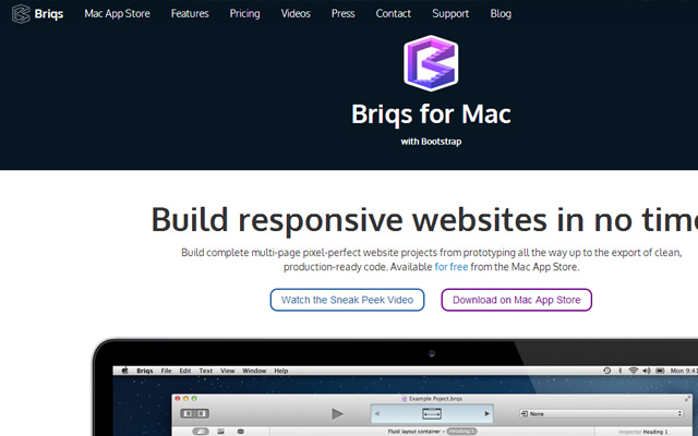 briqs build responsive website layouts