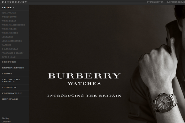Burberry clothing store online webshop