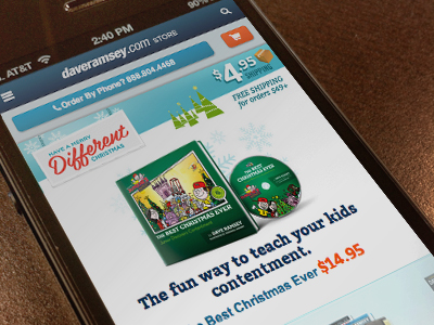 eCommerce Christmas theme redesign mobile smartphones