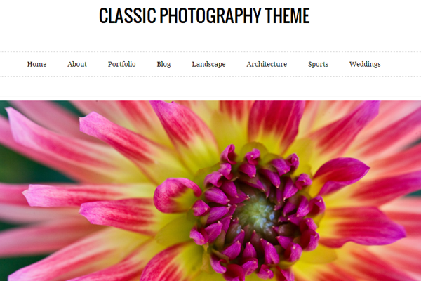Classic Photography WordPress Theme free download