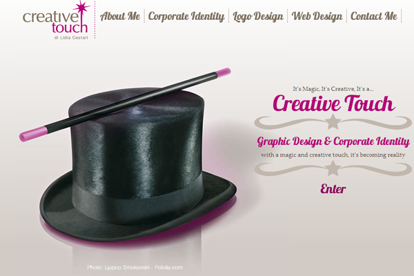 magic creative touch agency website design layout
