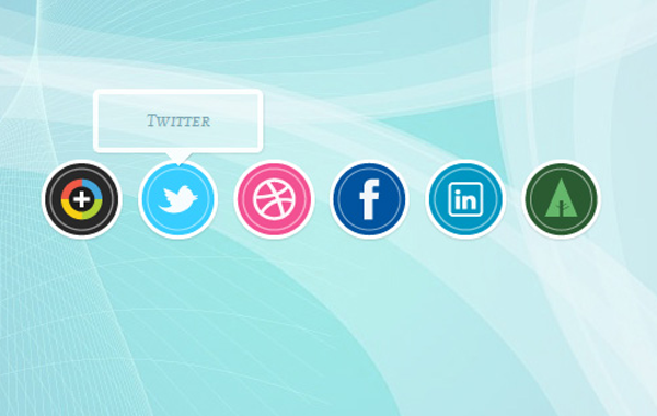 social media tutorial icons tooltips hover