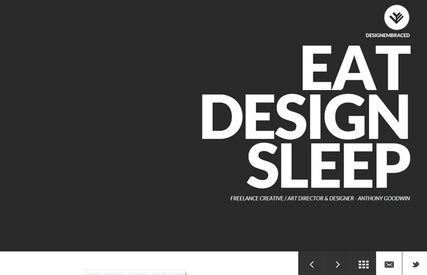 design embraced website layout inspiring design