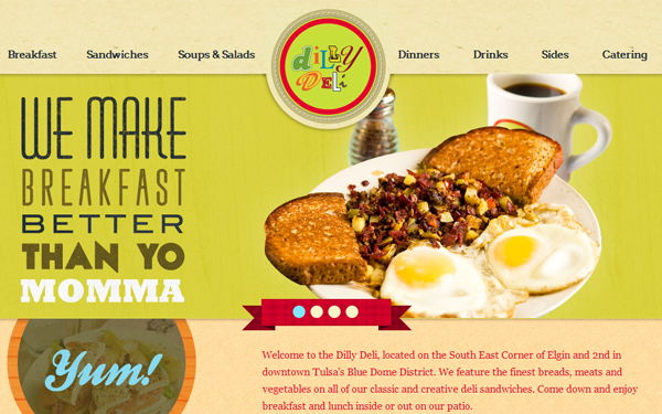 silly deli website inspiration layouts restaurant
