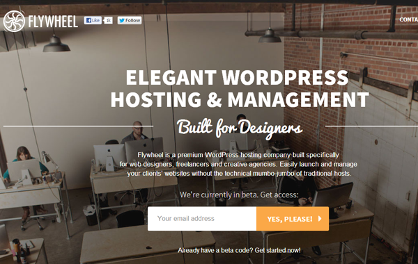 flywheel website bootstrap WordPress hosting