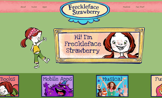 freckleface strawberry simple website drawings