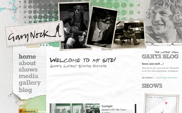musicians musics inspiration layouts websites
