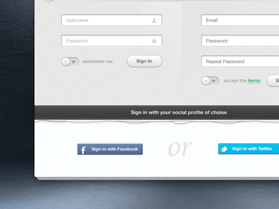 Just another website form PSD design